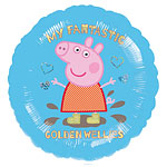 "Peppa Pig Blue Balloon - 18"" Foil"