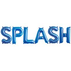 "'SPLASH' Blue Balloon Kit - 16"" Foils"