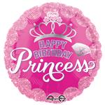 "Pink Princess Crown Balloon - 18"" Foil"