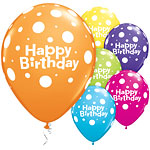 11'' Birthday Big Polka Dots Assortment