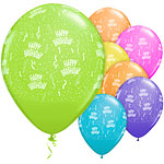 "Multicoloured Birthday Assortment Balloons - 11"" Latex"