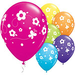 "Assorted Daisies & Butterflies Balloons - 11"" Latex"