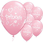"Princess Assorted Balloons - 11"" Latex"