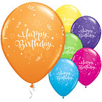 "Shining Star Happy Birthday Balloons - 11"" Latex"