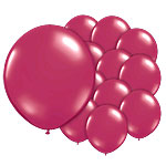 Antique Red Balloons - 5'' Latex