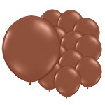 "Chestnut Brown Balloons - 5"" Latex"