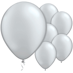 Silver Metallic Balloons - 11'' Latex