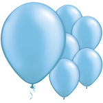 Azure Blue Pearl Balloons - 11'' Latex