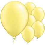 "Lemon Chiffon Balloons - 11"" Latex"
