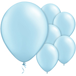Light Blue Pearl Balloons - 11'' Latex
