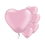 Pink Pearl Heart Balloons - 6'' Latex