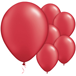 "Ruby Red Balloons - 11"" Latex"
