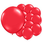 "Poppy Red Balloons - 5"" Latex"