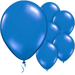 Rich Blue Balloons - 11'' Latex