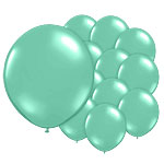 Tropical Green Balloons - 5'' Latex