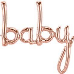 Rose Gold Baby Phrase Foil Balloon - 34""