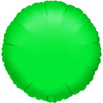 Green Round Balloon - 18'' Foil