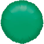 Green Round Foil Balloon - 18''