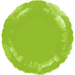 Lime Green Round Balloon - 18'' Foil - unpackaged