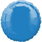 "Periwinkle Blue Round Balloon - 18"" Foil - unpackaged"