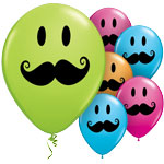 Smile Face Moustache Balloons - 11