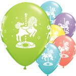 Sorbet Assorted Carousel Horses Balloons - 11 Latex