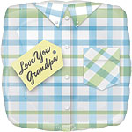 "Love You Grandpa Shirt Design Square Balloon - 18"" Foil"
