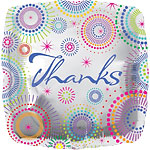 "Thanks! Dots Design Square Balloon - 18"" Foil"