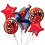 Spider-Man Balloon Bouquet - Assorted Foil