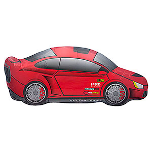 "Sports Car Balloon - 33"" Foil"