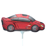 "Sports Car Balloon on a Stick - 14"" Foil"