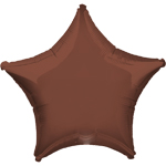 "Chocolate Brown Star Balloon - 19"" Foil"