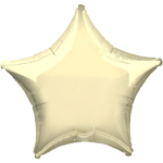 Metallic Pearl Ivory Star Balloon - 19