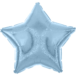 "Pastel Blue Dazzler Star Balloon - 19"" Foil"