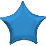 "Periwinkle Blue Star Balloon - 19"" Foil - unpackaged"