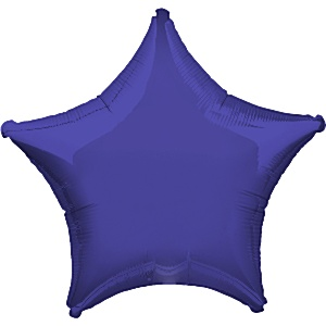 Purple Star Balloon - 19