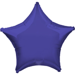 "Purple Star Balloon - 19"" Foil - unpackaged"