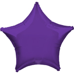 "Purple Quartz Star Balloon - 19"" Foil - unpackaged"