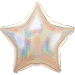 "Silver Dazzler Star Balloon - 19"" Foil - unpackaged"