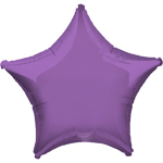 "Spring Lilac Star Balloon - 19"" Foil - unpackaged"