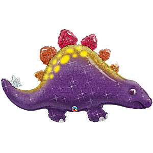 "Purple Stegosaurus Birthday Balloon - 44"" Foil"