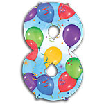 "Streamers Number 8 Giant Balloon - 34"" Foil"