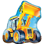 "Birthday Construction Loader Shaped Balloon - 32"" Foil"