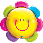 "Funny Face Flower Supershape Balloon - 32"" Foil"