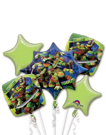Teenage Mutant Ninja Turtles Balloon Bouquet - Assorted Foil