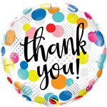 "Thank You Dots Balloon - 18"" Foil"