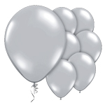 "Silver Prolite Valved Balloons - 9"" Latex"