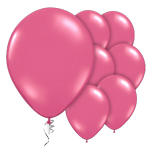 "Jewel Rose Pink Prolite Valved Balloons - 9"" Latex"