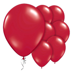 "Ruby Red Prolite Valved Balloons - 9"" Latex"