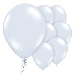 "White Prolite Valved Balloons - 9"" Latex"